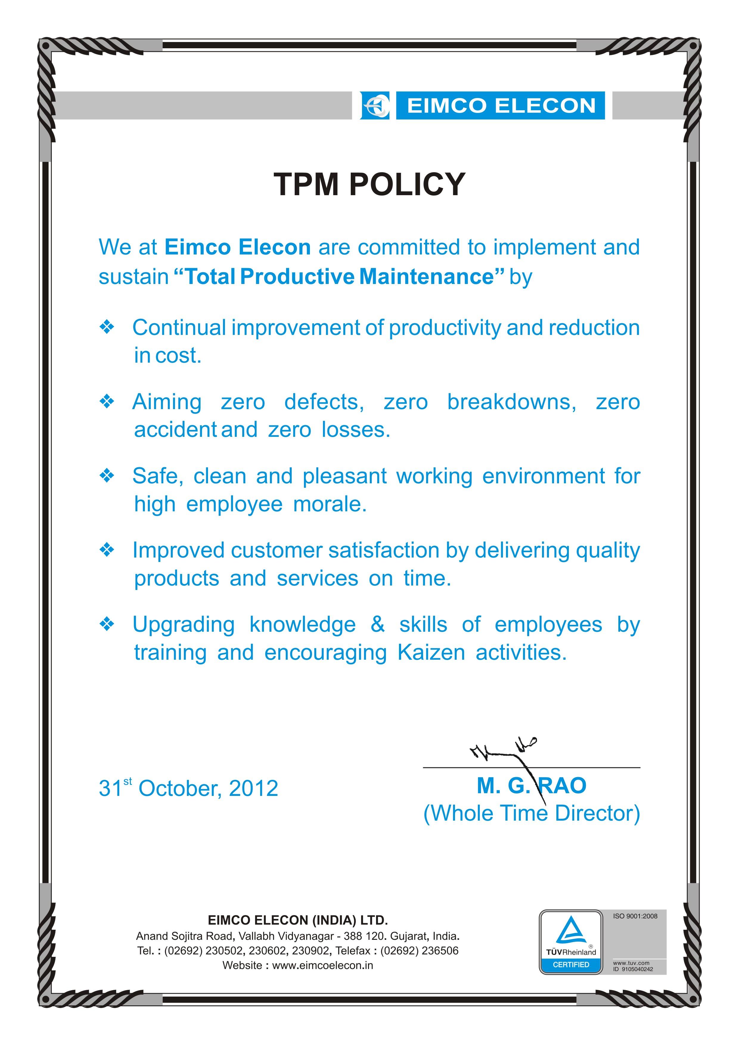Code Of Conduct Eimco Elecon India Limitedeimco Elecon